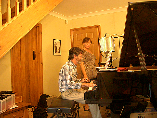 "Heather Cairncross and David Newton recording her album ""At Last"""