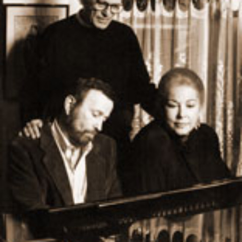 Johnny Mandel with Alan and Marilyn Bergman