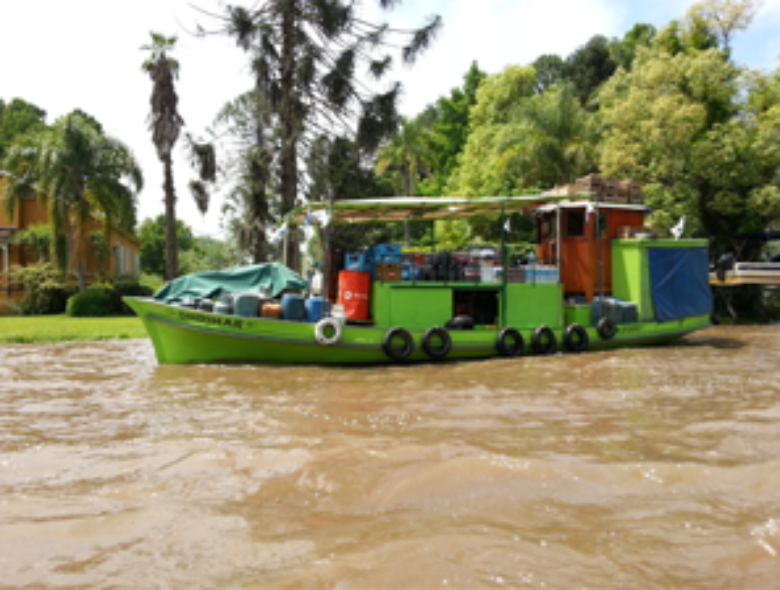 supermarket boat on the Tigre Delta in Argentina