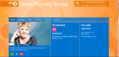 Home Fires Theme is played on the Clare Balding Radio 2 show